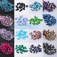 20pcs 8x16mm Faceted Teardrop Crystal Glass Loose Crafts Pendants Beads lot