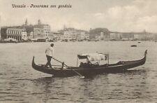 venezia postcard  -  panorama con gondola