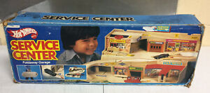 Vintage 1979 Mattel Hot Wheels Service Center Foldaway Garage Play Set w/ Box