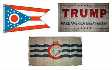 3x5 Trump White & State of Ohio & City of Cincinnati Wholesale Set Flag 3'x5'