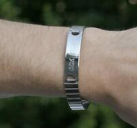 Mens Shema Israel Metal Bracelet, Shma Yisrael Hebrew Jewish Prayer Judaica Gift