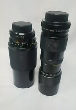 LOT OF:2 LENS Vivitar 70-210mm 1:35 Macro Focusing Auto Zoom+close focus 85-205