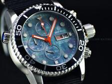 NEW DEEP BLUE 40mm Platinum MOP Dial Diver 1000 SAPPHIRE Watch w/ Extra Strap