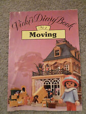 """Playmobil Victorian Mansion 5300 - Vickis Diary Booklet """"Moving"""" - Rare Find"""