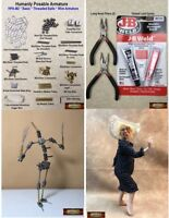 M01110 MOREZMORE HPA-M2R BASIC Humanly Posable Armature STARTER Puppet Kit