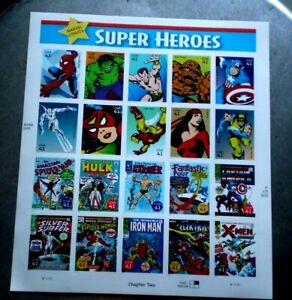 U.S. Postage Stamps 2006 Super Heroes Chapt.2 Marvel. Comic 20 X .41 Scott #4159