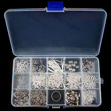 New Jewellery Making Components Starter Kit Tool Cords Findings Charms Beads Set