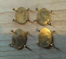 Vintage Brass Jewellery Central Pendant Finding   35 x 25 + mm