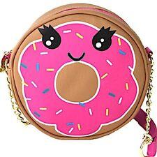 NWT BETSEY JOHNSON Kitsch Canteen Doughnut Donut Crossbody Purse Shoulder Bag