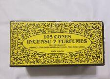 Incense 7 Perfumes 100 Cones Jasmine Lotus Musk Amber Patchouli Pine Rose Sandal