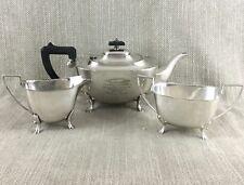 Antico SILVER PLATE Servizio da Tè Teiera AGRICOLI mostra Premio Agricoltore BOVINI vitello