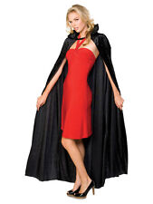 Adult Long Crushed Velvet Cape Fancy Dress Halloween Vampire Cape Accessory BN