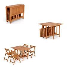 Completo in legno tavolo con sedie pieghevole è da riporre internamente giardino