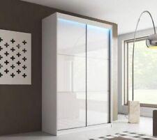 New BEDROOM WHITE WARDROBE 2 sliding door + FREE LED LIGHTS