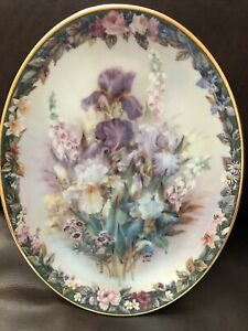 Lena Liu's Floral Cameos Plate Cherished Limited Edition Bradford Exchange
