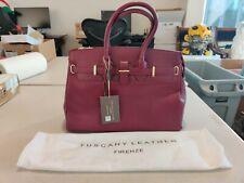 Tuscany Leather Handbag With Golden Hardware - TL141529 - Bordeaux