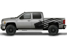 Vinyl Decal PATRIOT FLAG Wrap Kit for Chevy Silverado 1500/2500 2008-2013 BLACK