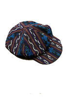 Vintage 1990s 100% Cotton Multicolor Flat Hat