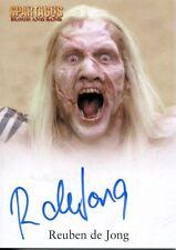 2012 SPARTACUS TRADING CARDS Autograph REUBEN DE JONG as THEOKOLES (#2)