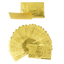 AUSTRALIAN $100 BANKNOTE 24KT GOLD FOIL PLAYING CARDS 999 GOLD FOIL CARDS GOLD