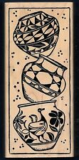 X-LARGE SOUTHWEST POTTERY VASE Bird clay pot MAGENTA CANADA 20008-Q RUBBER STAMP