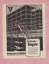 DESSAU-ROSSLAU, Werbung 1942, Wilhelm A. Weber Maschinenfabrik Stahlrohr-Regale