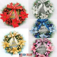 Christmas Wreath Hanging Decor Xmas Party Home Wall Garland Ornament Decors 30CM