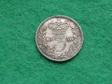 More details for 1850 queen victoria silver threepence better collectable grade