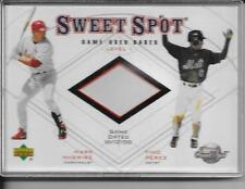 """MARK MCGWIRE/Timo Perez 2001 Sweet Spot """"Game-Used Base"""" Duos #B1-MP"""