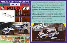 ANEXO DECAL 1/43 VOLKSWAGEN POLO R WRC A.MIKKELSEN R.ITALIA 2014 4th (01)