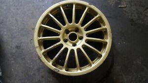 "Subaru Impreza Alloy Wheel Classic 17"" Alloy Wheels Rare Japanese Spec GOLD"
