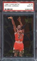 Michael Jordan 1996 Fleer Metal #128 PSA 9 MINT Bulls