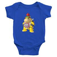 Bowser Jr. Koopa Villain Infant Baby Rib Bodysuit Jumpsuit Super Mario Bros