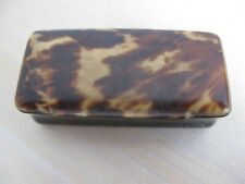 Vintage Victorian snuff  box shell like material