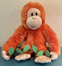 """GUND Plush Stuffed Monkey Orangutan - Rangel - 14"""" - Hanging Leaf Garland - NEW"""