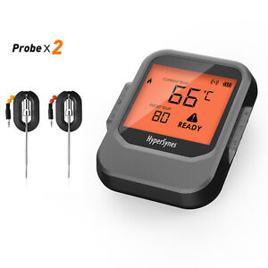 Pro6 Bluetooth Wireless Meat BBQ Thermometer, 2 x Stainless Steel Probes Kamado