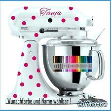 Pünktchen + Name Aufkleber KitchenAid kitchen Aid Küchenmaschine Sticker decal