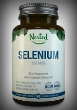 Pure Selenium 200mcg Potent Antioxidant Thyroid Heart Energy Focus 90 Day Supply