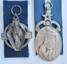 2 Silver Masonic Hospital Medals Hall Mark London 1930 & Birmingham 1922 Named