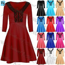 Unbranded V Neck Skater Party Dresses for Women