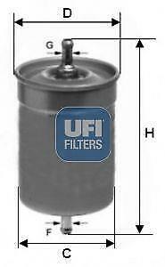 UFI - 31.500.00 -  Fuel filter
