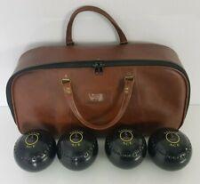 Thomas Taylor Ace Lawn Bowls Size 5 Heavy M-B17256 & Bowls Bag Gun Dog Design