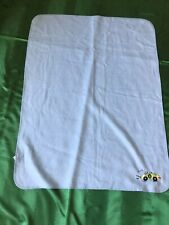 Baby Blanket~ Blue (racecar Zoom) ~ size 38 in x 29 in