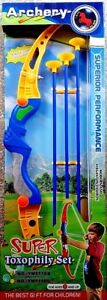 SUPER TOXOPHILY SET Outdoor Archery set with 3 cup arrows and Target for kid +3