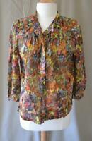Dries van Noten Multicolor Blouse with 3/4 Sleeves Size 42 US Sz 10