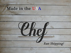 Chef Sign, Culinary, Restaurant, Kitchen, Office Door Decor W1101
