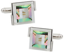 Abalone Bulls Eye Cufflinks Direct from Cuff-Daddy