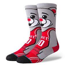 Postura NBA Houston Rockets Embrague Para Hombre El Oso Calcetines-Negro/Rojo/Gris