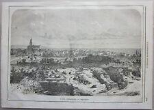 1866 AQUILEJA veduta Aquileia xilografia Illustrazione Universale Sonzogno Udine