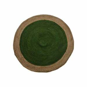 Jute rugs Natural Round Rug Indian Hand Braided style vintage Green Jute Carpet